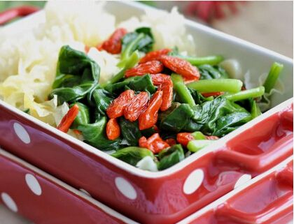 Chinese spinach dish