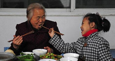 Chinese traditional chopsticks gratefulness